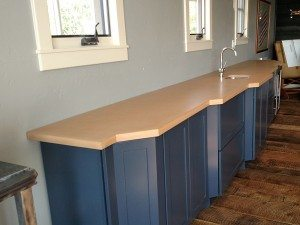 Tan Seamless Concrete Bar Counter Top