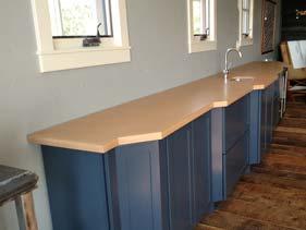Tan Seamless Concrete Bar Counter Top