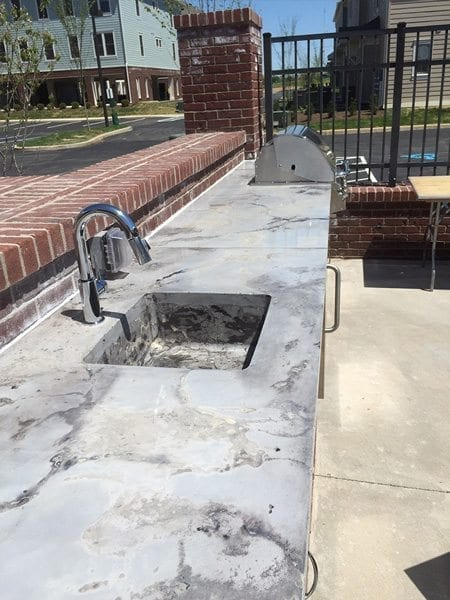 Stone Cast Concrete Outdoor Bar Top