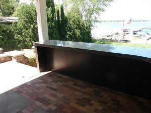 Dark Grey Terrazzo Concrete Counter Top