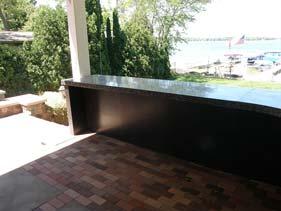 Dark Grey Terrazzo Concrete Counter Top