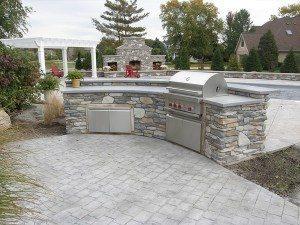 Grey Terrazzo Cast Concrete Counter Top