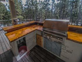 Orange Concrete Outdoor Bar Counter Top