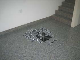 Dark Grey Epoxy Flake Floor