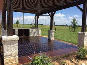 Dark Brown Concrete Stain for Outdoor Concrete Patio