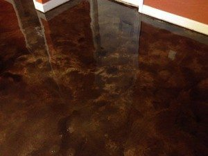 tan stained concrete floor