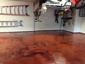 Burnt Orange Concrete Stain for Garage Floor