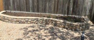 Field Stone Raised Garden Bed