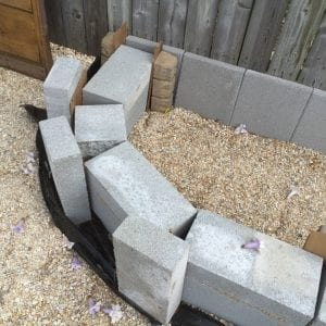 shaped void between cinderblocks 1