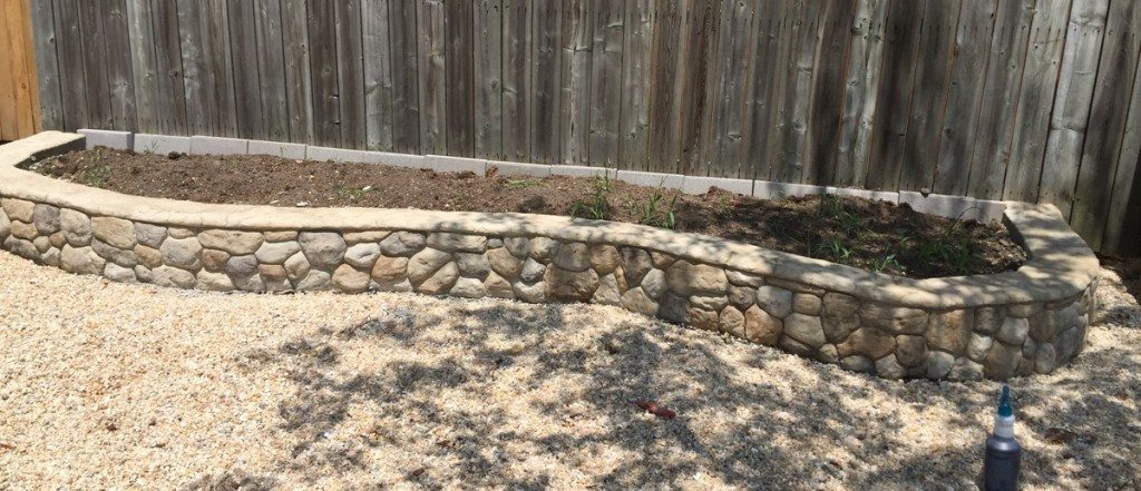 Build a Field Stone Raised Garden Bed using the Vertical Stamp Mix