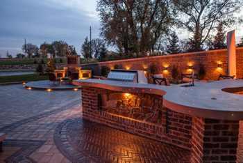 Concrete Countertop LED Lights – Amazing Outdoor Kitchen
