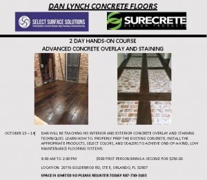 ADVANCED CONCRETE OVERLAY AND STAINING