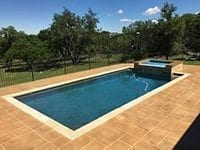 Pool Deck Resurfaced Stained and Sealed