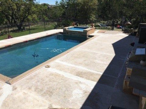 before overlay concrete pool deck crack repair austin
