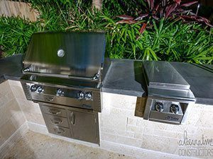 charcoal outdoor concrete kitchens counter