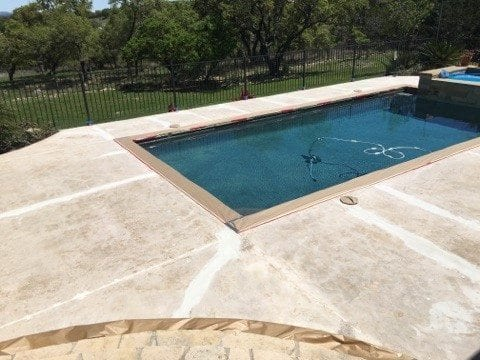 Concrete Pool Deck Ground Crack Repaired