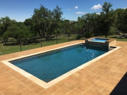 Finished Left Side Pool Deck Sealed with Acrylic Sealer