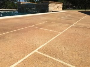 pool deck tape concrete overlay