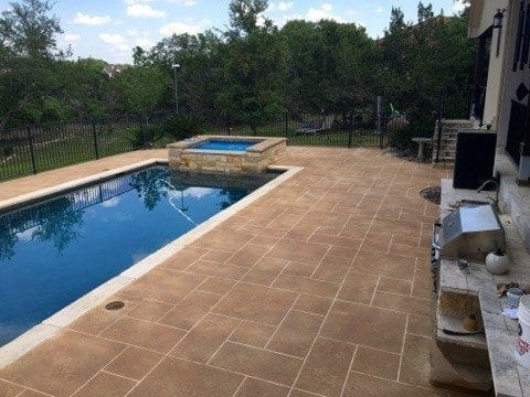 Right Side Pool Deck Overlay Finished