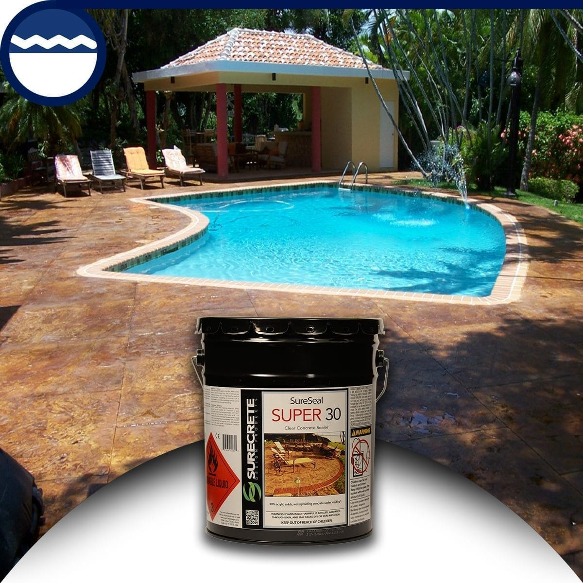 Clear Pool Deck Sealer
