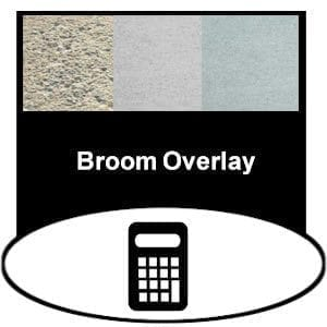 broom concrete overlay product calculator