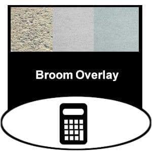 broom concrete overlay product calculator