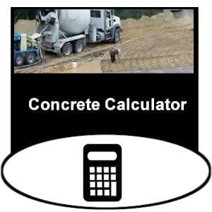 concrete calculator for calculating cubic yards and bags needed