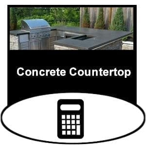 concrete countertop product calculator
