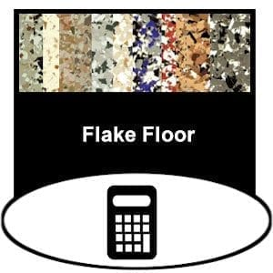 garage epoxy flake floor calculator