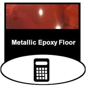 concrete epoxy metallic product needed calculator