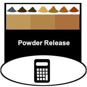 stamped concrete powder release calculator