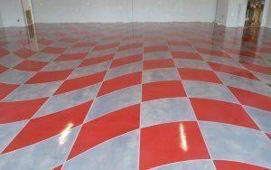 Metallic checker flag pattern