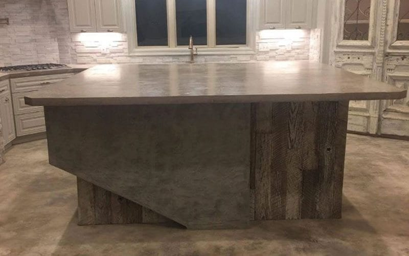 Custom designed cabinet base and countertop