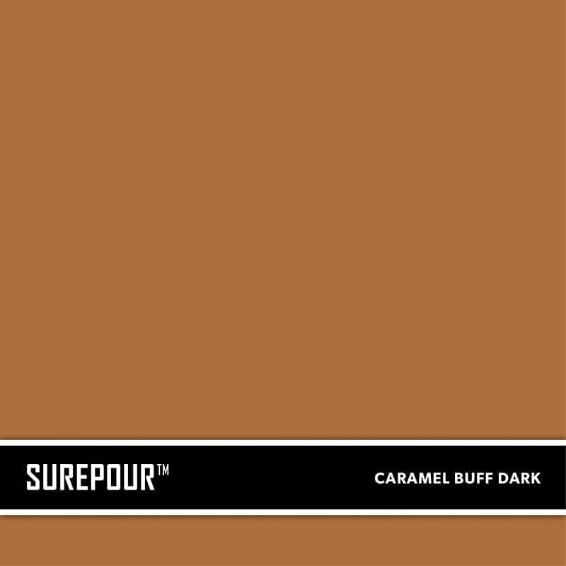 SureCrete's SurePour™ Caramel Buff Dark , Dark Tan SKU: 35103008-73 UPC: 842467100738 (Requires 2 Bag / 1 Yard)