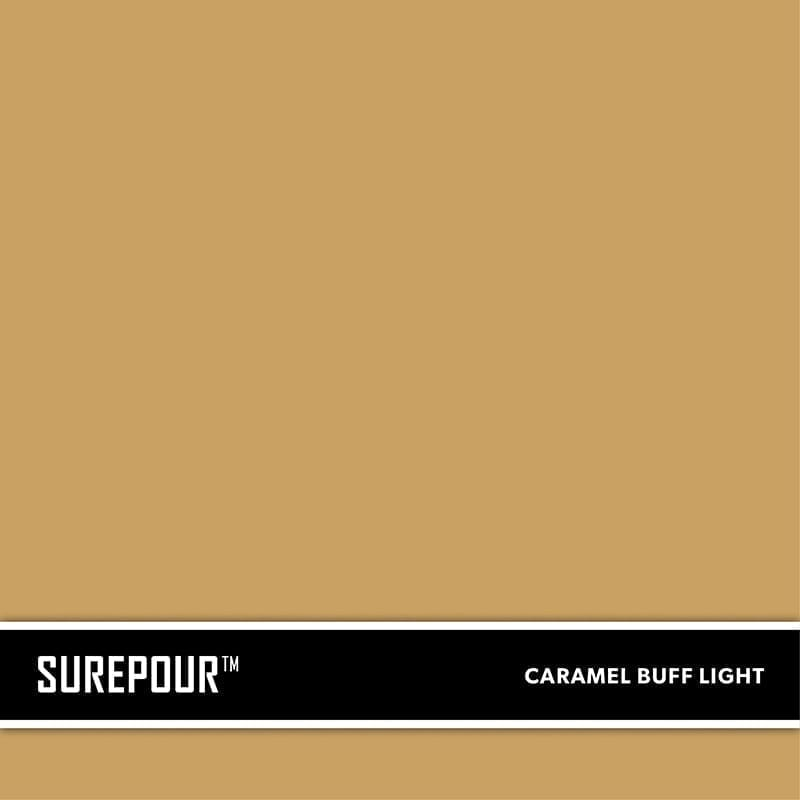 SureCrete's SurePour™ Caramel Buff Light SKU: 35103008-73 UPC: 842467100714 (Requires 1 Bag / 2 Yard)