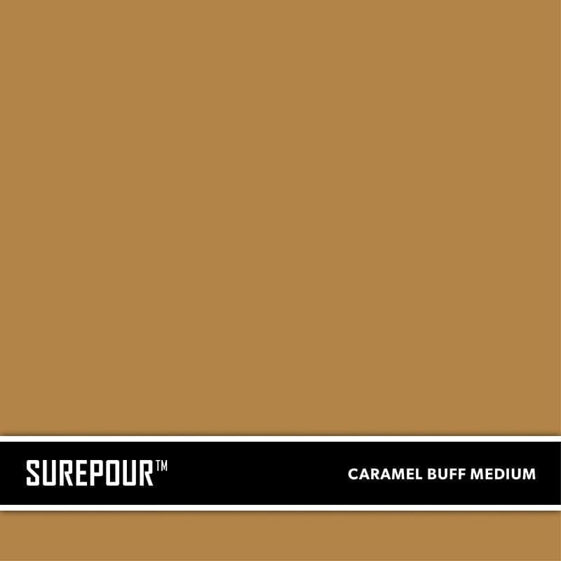 SureCrete's SurePour™ Caramel Buff Medium , Tan. SKU: 35103008-73 UPC: 842467100721 (Requires 1 Bag / 1 Yard)