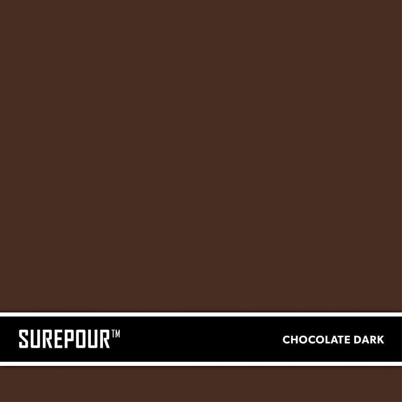 SureCrete's SurePour™ Dark Chocolate Brown Ready-Mix fresh concrete color SKU: 35103008-07 UPC: 842467100707 (Requires 2 Bag / 1 Yard)