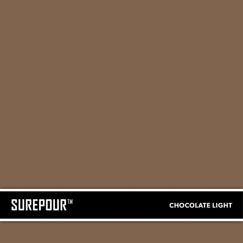 SureCrete's SurePour™ Light Chocolate Brown Ready-Mix fresh concrete color SKU: 35103008-07 UPC: 842467100684 (Requires 1 Bag / 2 Yard)