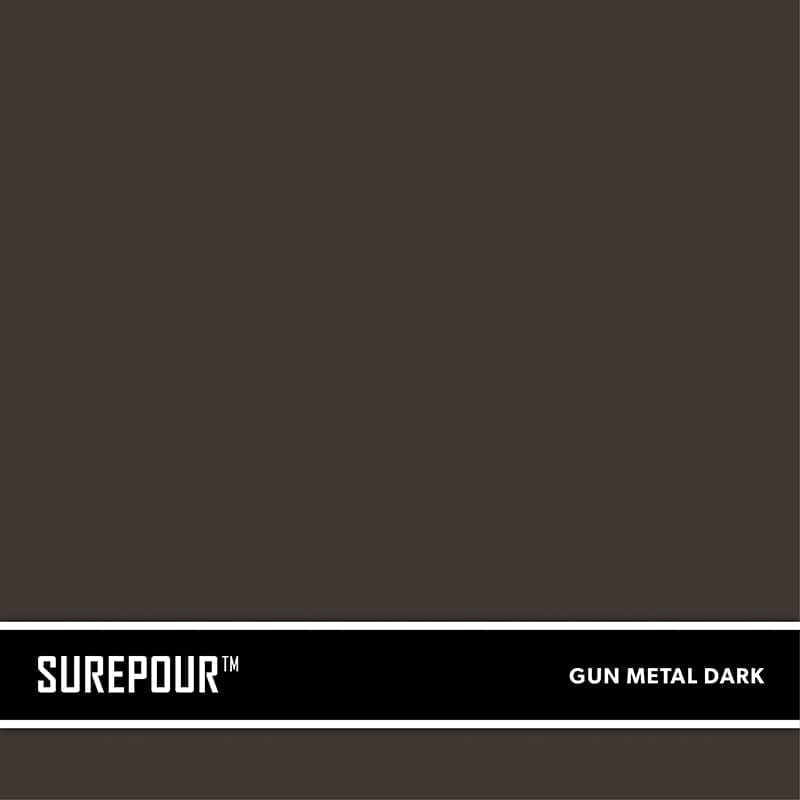 SureCrete's SurePour™ Dark Gun Metal Gray Ready-Mix fresh concrete color SKU: 35103009-81 UPC: 842467100790 (Requires 2 Bag / 1 Yard)