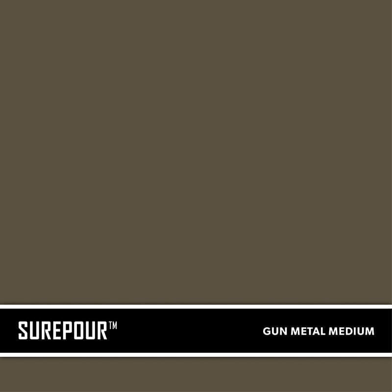 SureCrete's SurePour™ Medium Gun Metal Gray Ready-Mix fresh concrete color SKU: 35103009-81 UPC: 842467100783 (Requires 1 Bag / 1 Yard)