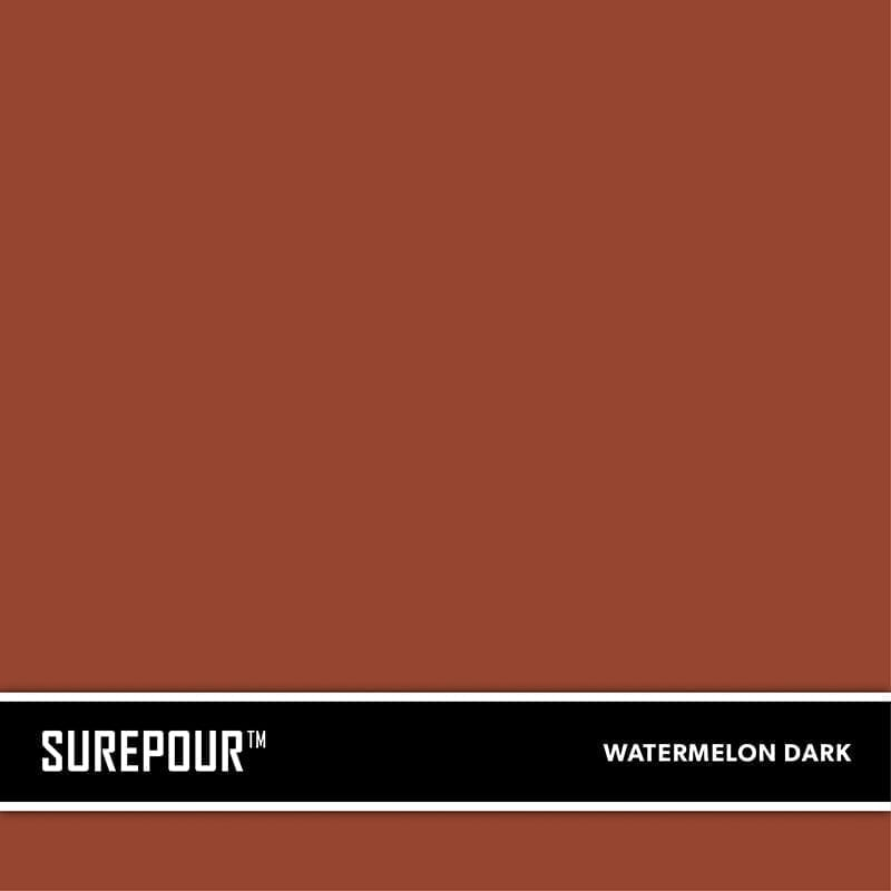 SureCrete's SurePour™ Watermelon Dark Ready-Mix fresh concrete color SKU: 35103009-91 UPC: 842467100851 (Requires 2 Bag / 1 Yard)