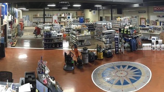 Barnsco Decorative Concrete Supply showroom