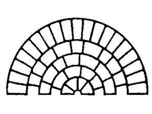 Adhesive Cobble Circle Stencil by SureCrete