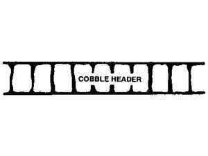 Adhesive Cobble Header Stencil by SureCrete
