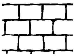 Adhesive Rustic Brick Stencil by SureCrete