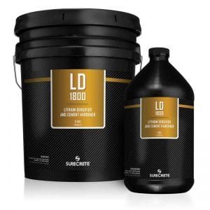 Concrete Hardener LD1800™ Concrete Lithium Densifier 1 and 5 Gallons by SureCrete