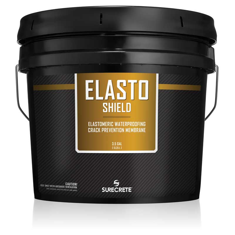 Concrete Waterproofing Rubber Like Coating Elastomeric Liquid 3.5 Gallons - ElastoShield™ by SureCrete