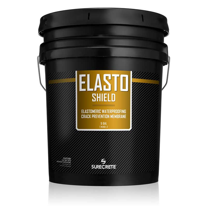 Concrete Waterproofing Rubber Like Coating Elastomeric Liquid 5 Gallons - ElastoShield™ by SureCrete