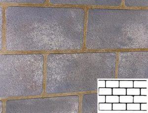 Finished Cinder Block Pattern Concrete Stencil
