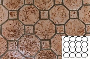 Finished Diamond Tile Pattern Concrete Stencil